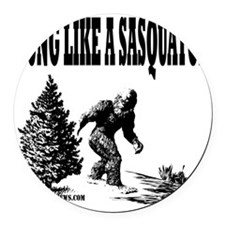 Hung Like a Sasquatch.gif Round Car Magnet
