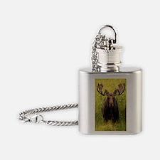 Shiras Moose Flask Necklace