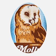 VoteMolly_MiniPoster Oval Ornament