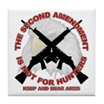 2A NOT for Hunters Tile Coaster