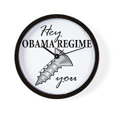 obama_regime_screw Wall Clock
