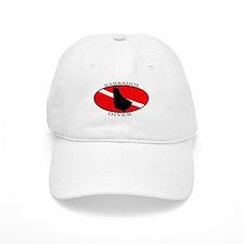 Barbados Diver (oval) Baseball Cap