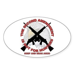 2A NOT for Hunters Oval Decal