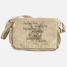 Jackalquotewhite Messenger Bag