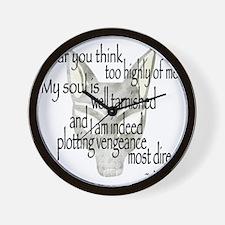Jackalquotewhite Wall Clock
