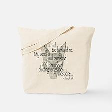 Jackalquotewhite Tote Bag