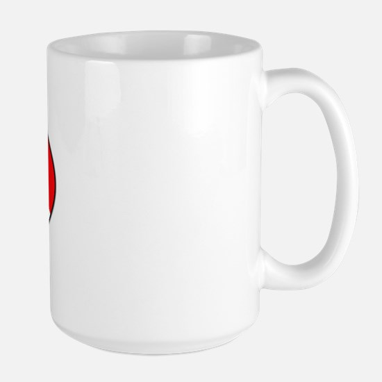 Bonaire Diver (oval) Large Mug