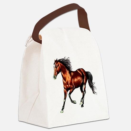Bay Horse, Dreamer Canvas Lunch Bag
