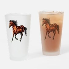 Bay Horse, Dreamer Drinking Glass