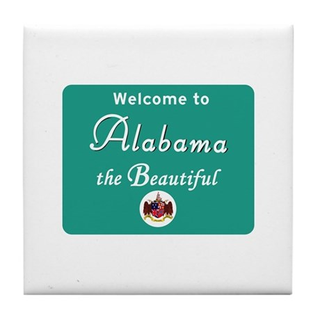 Welcome to Alabama - USA Tile Coaster