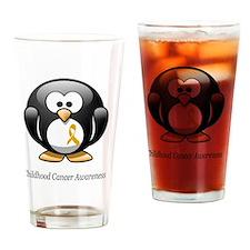2-childhood cancer awareness tee Drinking Glass