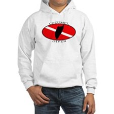 Cozumel Diver (oval) Hoodie