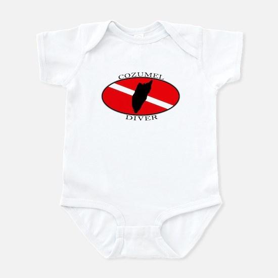 Cozumel Diver (oval) Infant Bodysuit