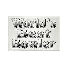 WORLDS BEST Bowler Rectangle Magnet