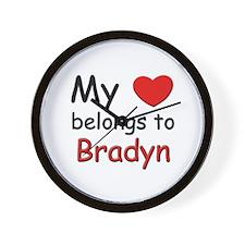 My heart belongs to bradyn Wall Clock