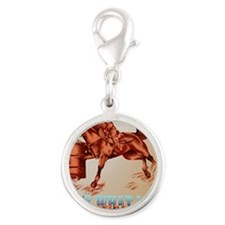 Barrel Racing_Its what I do _p Silver Round Charm