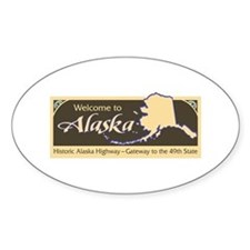 Welcome to Alaska - USA Oval Decal