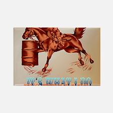 Barrel Racing_Its what I do _mpad Rectangle Magnet