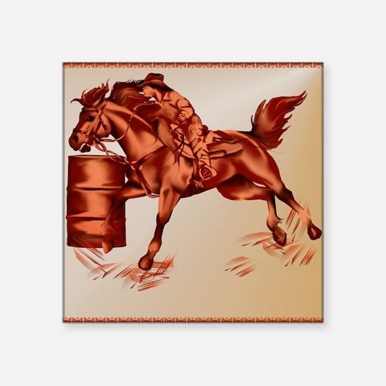 "Barrel Racing _pillow Square Sticker 3"" x 3"""