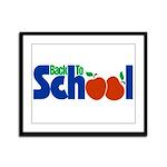 Back to School - Apples Framed Panel Print