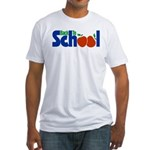 Back to School - Apples Fitted T-Shirt