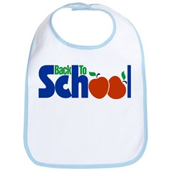 Back to School - Apples Bib