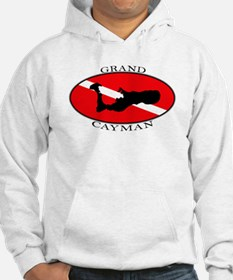 Grand Cayman Diver (oval) Hoodie