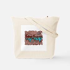 """Grapffiti Style """"Hardcore"""" Design Tote Bag"""