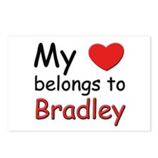My heart belongs to bradley Postcards (Package of