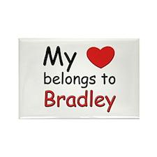 My heart belongs to bradley Rectangle Magnet