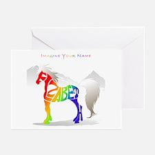 Elizabeth rainbow horse Greeting Cards (Package of