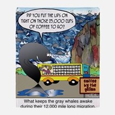 6632_whale_cartoon Throw Blanket