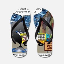 6632_whale_cartoon Flip Flops