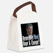 Reagan Hope Change Canvas Lunch Bag
