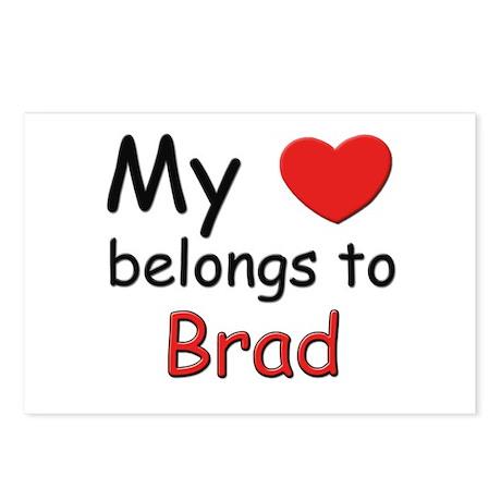 My heart belongs to brad Postcards (Package of 8)