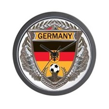 German Soccer Gym Bag Wall Clock