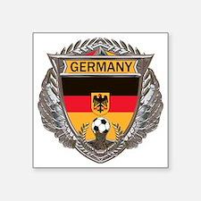 "German Soccer Gym Bag Square Sticker 3"" x 3"""