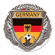 German Soccer Gym Bag Round Car Magnet