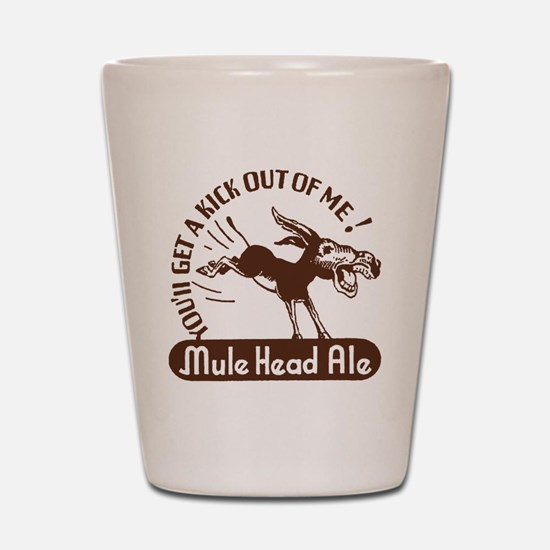 muleheadalebrown Shot Glass