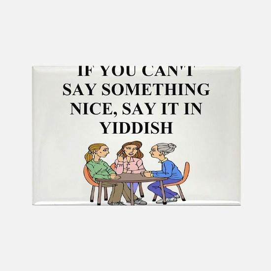 jewish yiddish wisdom Rectangle Magnet