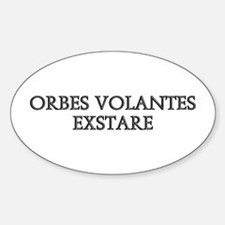 ORBES VOLANTES EXSTARE Oval Decal