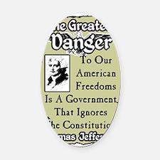 dangernew Oval Car Magnet