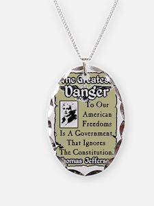 dangernew Necklace Oval Charm