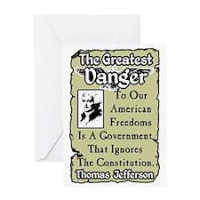 dangernew Greeting Card