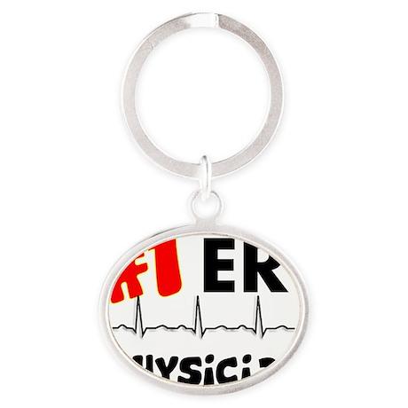 ER Physician Oval Keychain