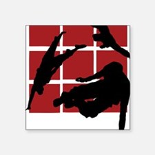 "Parkour edge B Square Sticker 3"" x 3"""