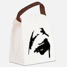 Parkour edge white Canvas Lunch Bag