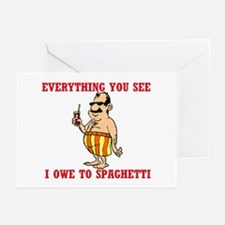 SPAGHETTI Greeting Cards (Pk of 10)
