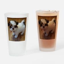 Shih Tzu Puppy Drinking Glass