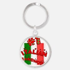 Italian Grandmother Round Keychain